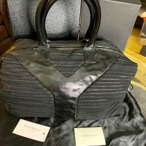 Ysl bowler/boston satchel bag